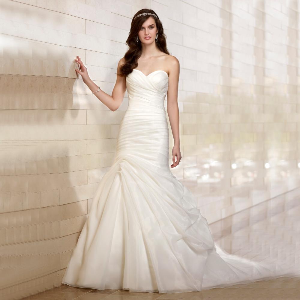 Buy bf9244 vestido de noiva 2017 elegant for Cute white wedding dresses