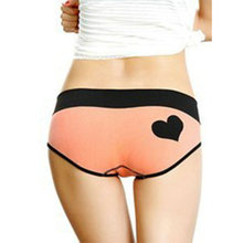 Soft Cotton Briefs Women Girl Heart Pattern Seamless Underwear Lingerie YRD