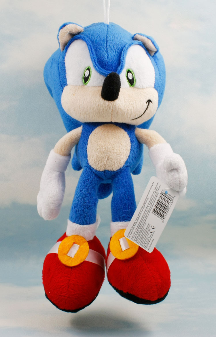 27cm blue Sonic The Hedgehog Plush Doll Soft Stuffed Figure Doll Key Chain Kids Gift Free Shipping<br><br>Aliexpress