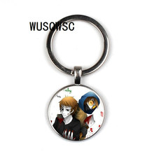 WUSQWSC Olá Kitty crânio do açúcar Creepypasta ASSUSTADOR TICCI TOBY keychain de cristal JEFF o assassino presente pesadelo antes Do Natal(China)