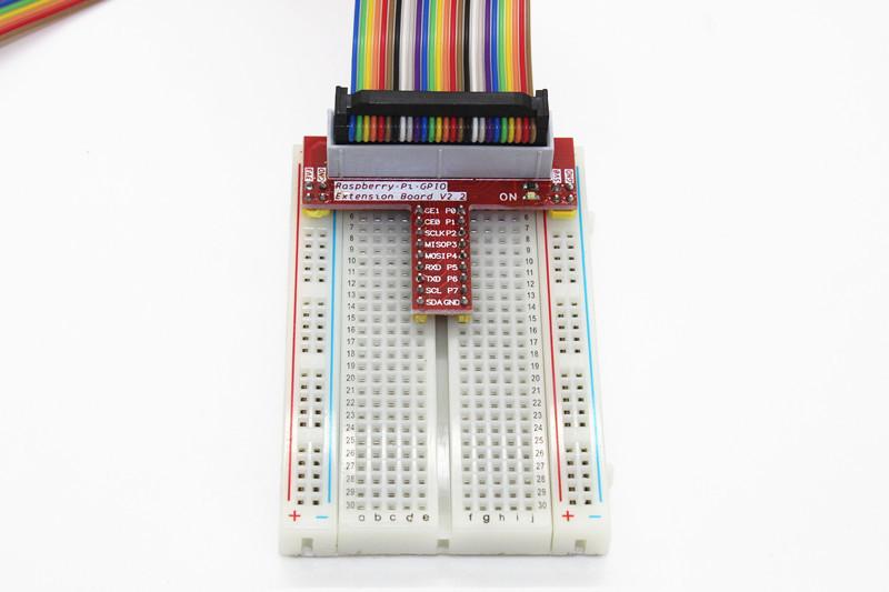 1Set Raspberry PI GPIO Extension Board + 26 Pin Cobbler Extension Flat Ribbon Cable Wire + 400pt Breadboard for Raspberry PI