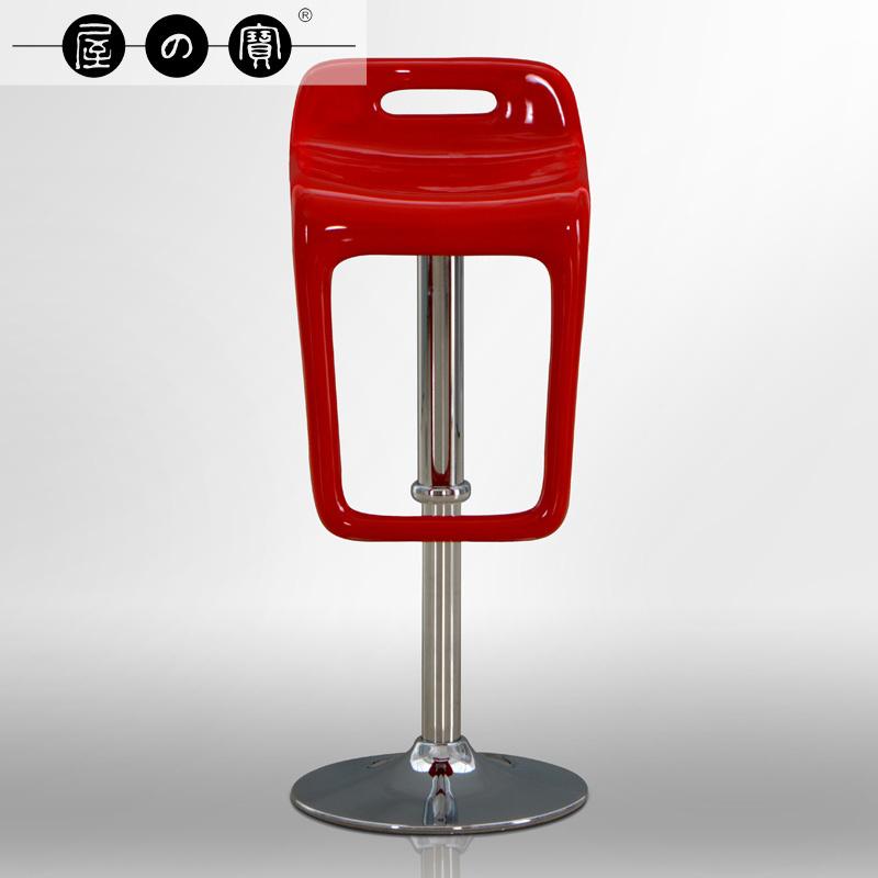 Treasure house of minimalist fashion creative pneumatic lift Front rotating bar stool chair tall bar chairs reception(China (Mainland))