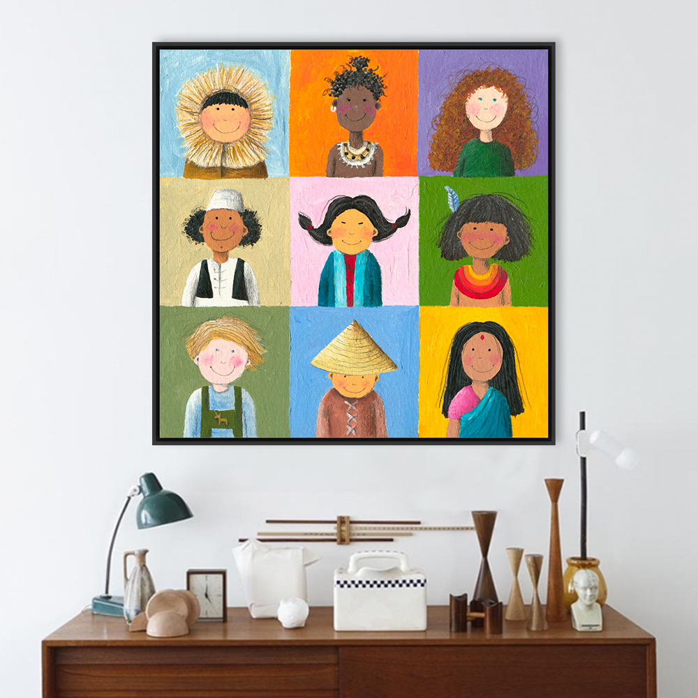 Buy worldwide chinese india africa children a4 large art print poster wall - Modern kids wall decor ...