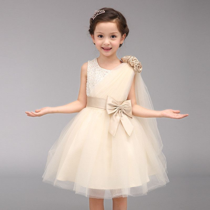 Flower Girl Dresses for Weddings Pageant White First Holy Lace Communion Bow Ball Gown Dance Disfraces Princess Bridesmaid Dress<br><br>Aliexpress