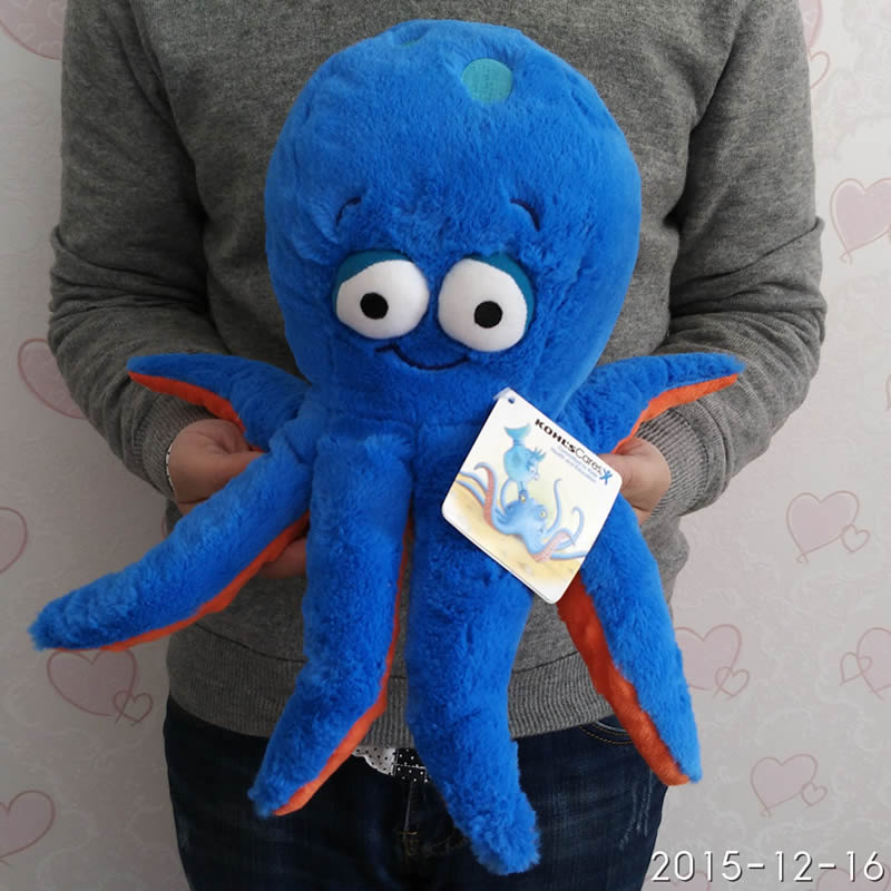 Free Shipping 30cm=11.8'' Original 3D eyes Blue Octopus doll Stuffed animal soft plush toys for baby gift(China (Mainland))