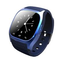 Reloj Inteligente смарт-bluetooth часы Smartwatch M26 с из светодиодов дисплей барометр Alitmeter музыка шагомер для android-ios