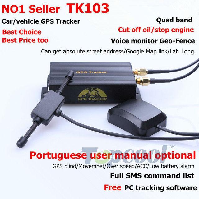 Car GPS Tracker TK103 Adroid Iphone APP Phone Tracking Crawler GPS Web&Free PC GPS Monitor System Vehicle Rastreador Veicular