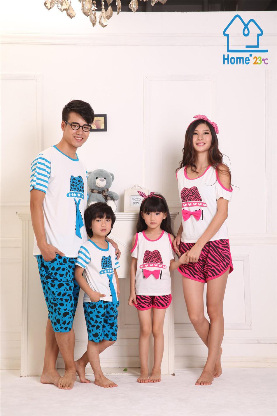 summer cartoon style funny font b family b font clothing set font b family b font