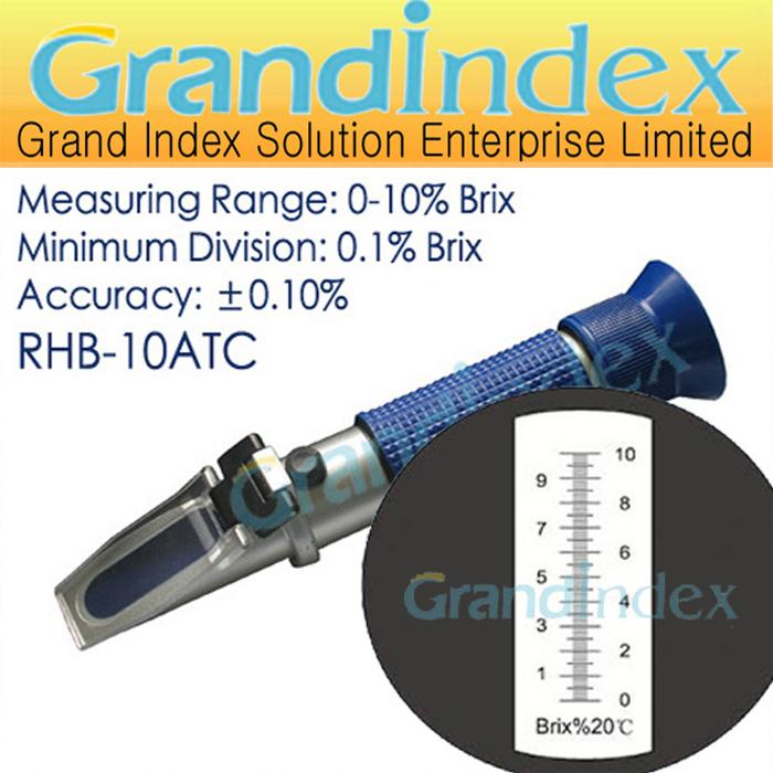 Рефрактометр Grand Index Brix rhb/10atc RHB-10ATC рефрактометр grand index 1 000 1 120 0 32% brix rsg 100atc brix rsg 100atc