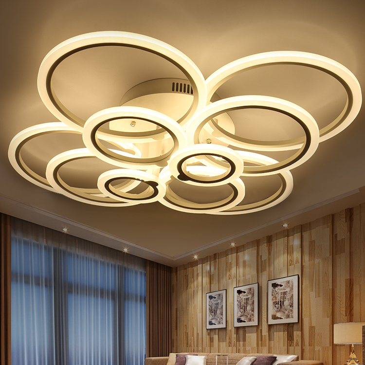 Free shipping led annular atmospheric bedroom modern - Color changing room lights ...