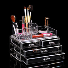 New Multi-function Plastic Acrylic Makeup Storage Box Set with 4 Drawers Cosmetic Organizer Container Storage Caskets(China (Mainland))