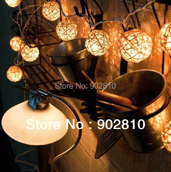 [listed in stock]-20pcs Thailand Stlye White Body Rattan String Ball Lantern for Wedding Party Decor Free Shipping(China (Mainland))