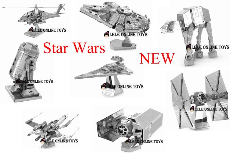 3D puzzle for adult 2015 New FOR Star/Wars 3D Nano metal Puzzle DIY juguetes educativos brinquedos para as crian(China (Mainland))