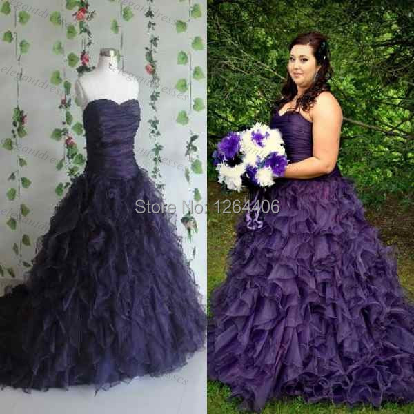 Purple Plus Size Dresses For Weddings Formal With Wedding