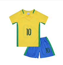 2016 2-14Y Kids Football Kits Children Football Clothing Set  Breathable Casual Set Baby Boy Clothes Twinset Summer Sports Set(China (Mainland))
