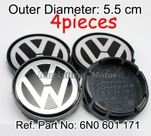 VW EMBLEM WHEEL CENTRE HUB CAP Jetta Bora Golf Mk4 GTI R32 Passat B5 Polo Lupo Replace 6N0 601 171 Outer Dia 55mm FREE SHIPPING