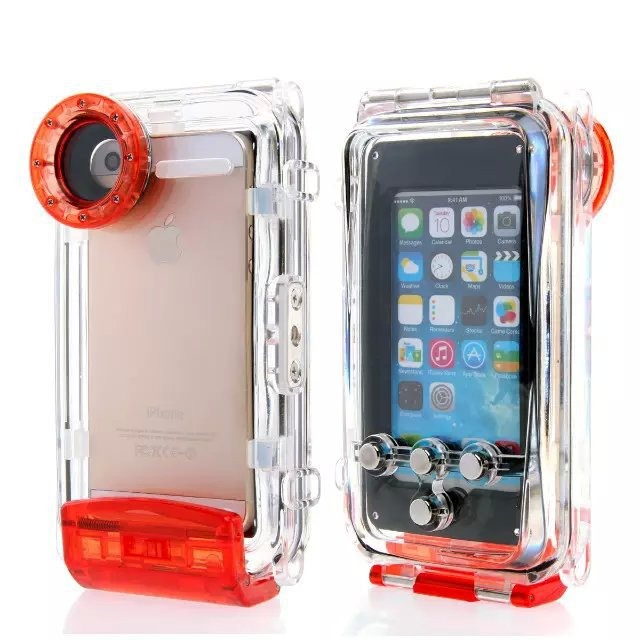 Diving Waterproof Case for Iphone 6 Plus 40 Meter Underwater Photography Protection Case for Iphone(China (Mainland))