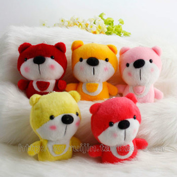 Colorful plush toy bear suction cup car pendant marriage plush toy