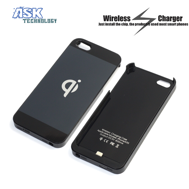 2015 Hot Qi Wireless Charger Receiver Case Cover Without Battery For iPhone 5 5s(China (Mainland))