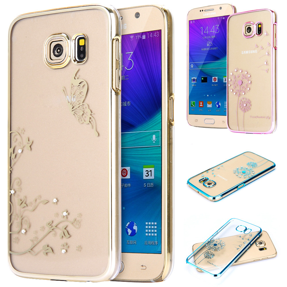 New Arrival Luxury Clear Transparnet Dandelion Model phone cases for Samsung Galaxy S6 G9200 / S6 Edge phone back housing Hot(China (Mainland))