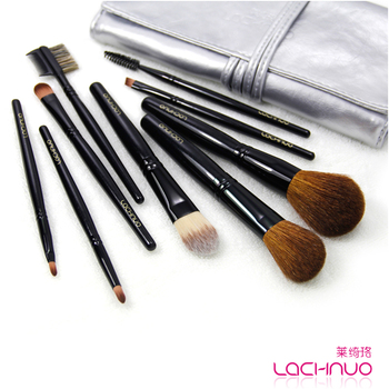 Free shipping Cosmetic brush set professional make-up brush set wool 9 brush set 8097 foundation brush