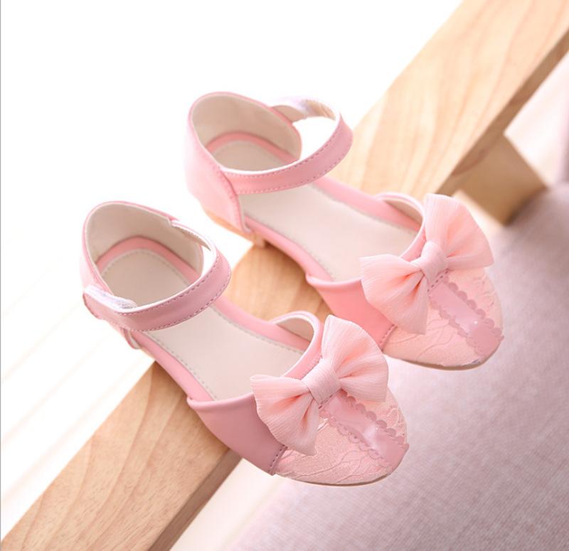 Bling Girls Shoes 2016 Summer Girls Lace Sandals Flat Princess Shoes Fashion Kids Dance Wedding Shoes Chaussure Enfant(China (Mainland))