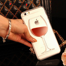Buy LOVECOM iPhone 4 4S 5 5S SE 5C 6 6S 7 Plus Phone Case Liquid Quicksand Red Wine Transparent Clear Hard PC Back Cover for $1.44 in AliExpress store