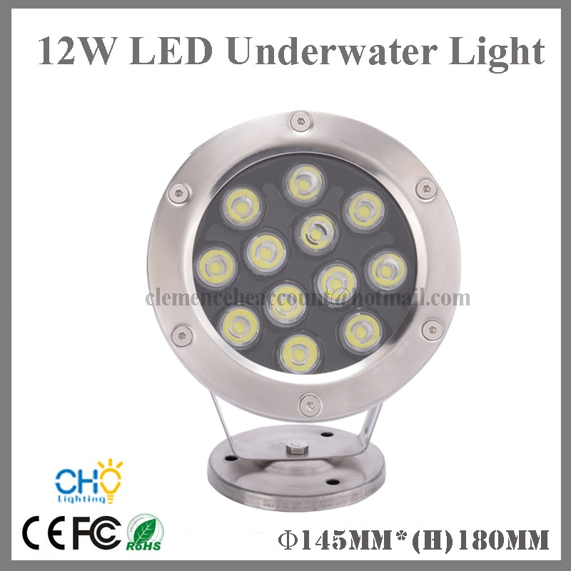 6pcs 12W 304 stainless steel led light swimming pool 12v rgb led underwater lighting(China (Mainland))