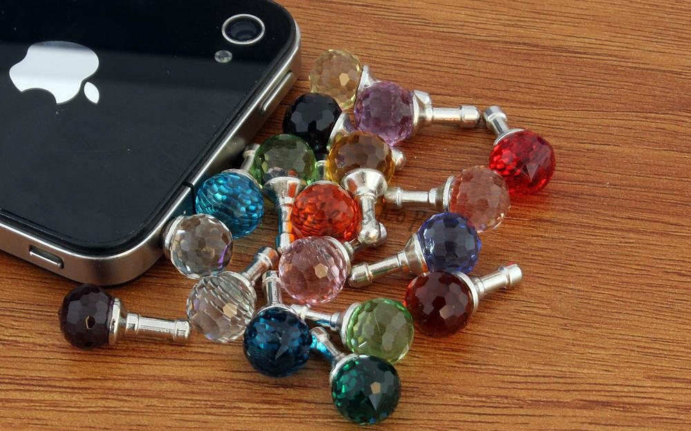 10PCS Fashion and Popular 10mm AB Clay Ball Dust Proof Plug Mobile Phone Jewelry Wholesale price $0.45(China (Mainland))
