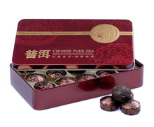 Chinese Yunnan slimming tea Pu erh tea puer black tea Tin can mini box