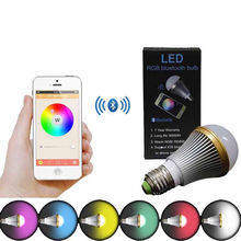 E27 Dimmable Bluetooth Smart RGB LED Light Bulbs IOS Android APP Smartphone  Controlled  Color Changing Decorative  Party Lights(China (Mainland))
