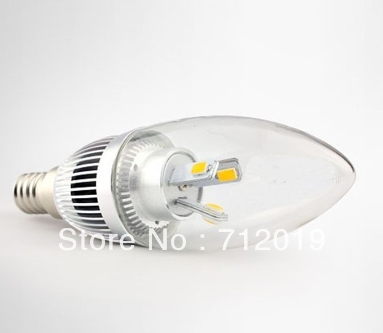 Factory direct sales 5630 3w led Candle Light led bulb light e14 candle Chandelier Crystal light(China (Mainland))