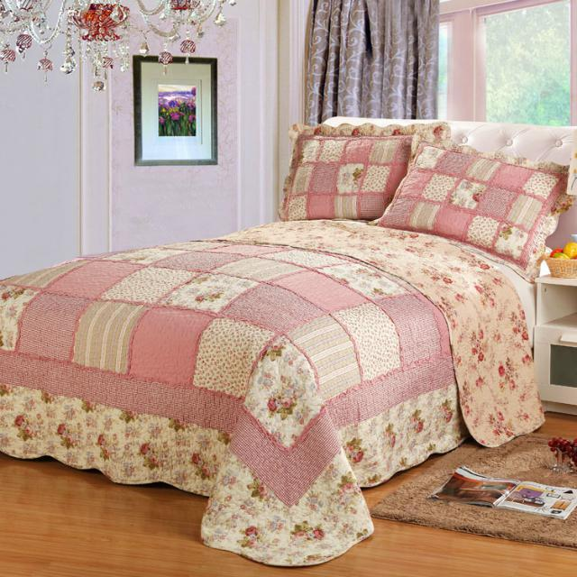 pastoral style 100 cotton quilt sets floral printed