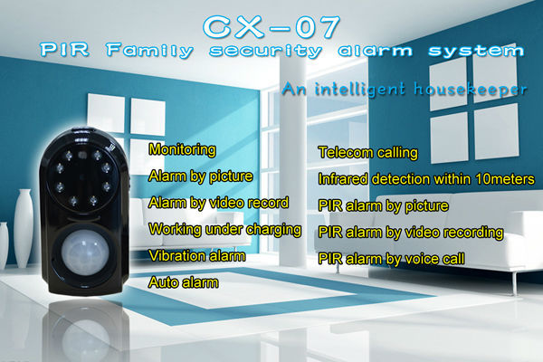 2015 New 850/900/1800/1900MHZ wireless home security gsm/gprs Camera PIR Motion Detection MMS alarm system(China (Mainland))