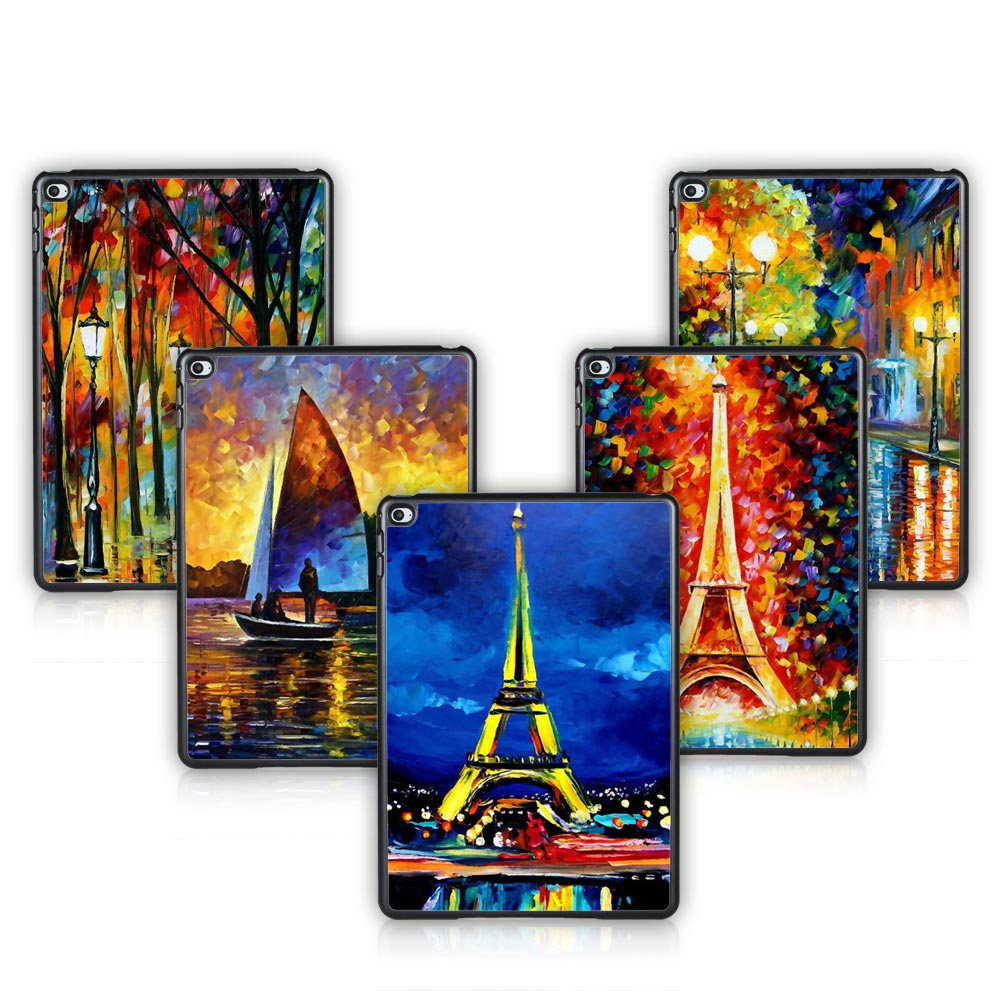 Famous Scenery Painting Pattern Case Cover Skinfor Apple iPad Air 2 Tablet Cases for iPad Free Screen Protector(China (Mainland))
