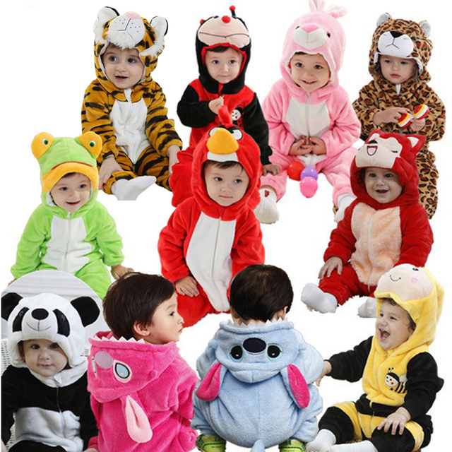 Infant Romper Baby Boys Girls Jumpsuit New born Bebe Clothing Hooded Toddler Baby Clothes Cute Animal Romper Baby Costumes