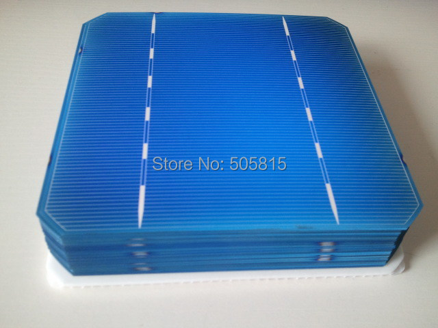 Free shipping 100 pcs/Lot 125*125mm Monocrystalline solar cell 5*5 Mono solar cell 2.972W A Grade+ Enough soldering wire(China (Mainland))