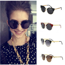 Unisex Cat Eye Sunglasses oculos de sol feminino Men/Women's Fashion Vintage Metal Frame Round Glasses 2015 Hot Selling GS-0001