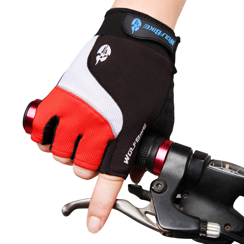 Wolfbike Bicycle Gloves Mountain Bike Gloves 3D GEL Breathable Anti-slip Anti-shock Half Finger Cycling Gloves(China (Mainland))