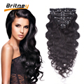Clip In Human Hair Extensions Brazilian Virgin Hair Clip In Extensions African American Clip In Human Hair Extension