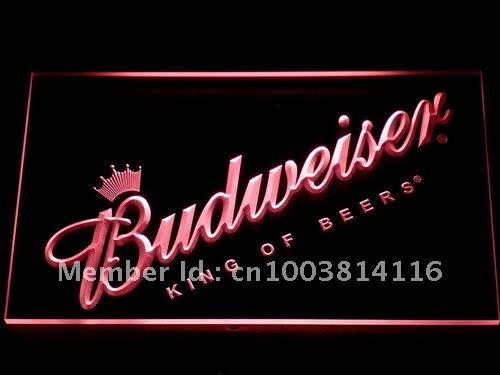 002-r Budweiser Beer Bar Pub Club NEW LED Neon Light Sign(China (Mainland))