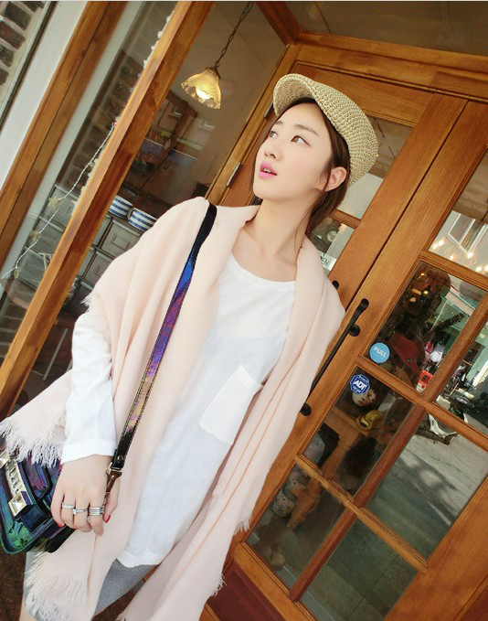 Vc ! special tassel soft skin-friendly crocheted scarf cape large scarf lovers female chromophous(China (Mainland))