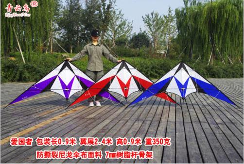 "[LUNA KITE] 94"" Delta Stunt Kite Dual Line Large Wing dyneema line Straps outdoor sport kite(China (Mainland))"