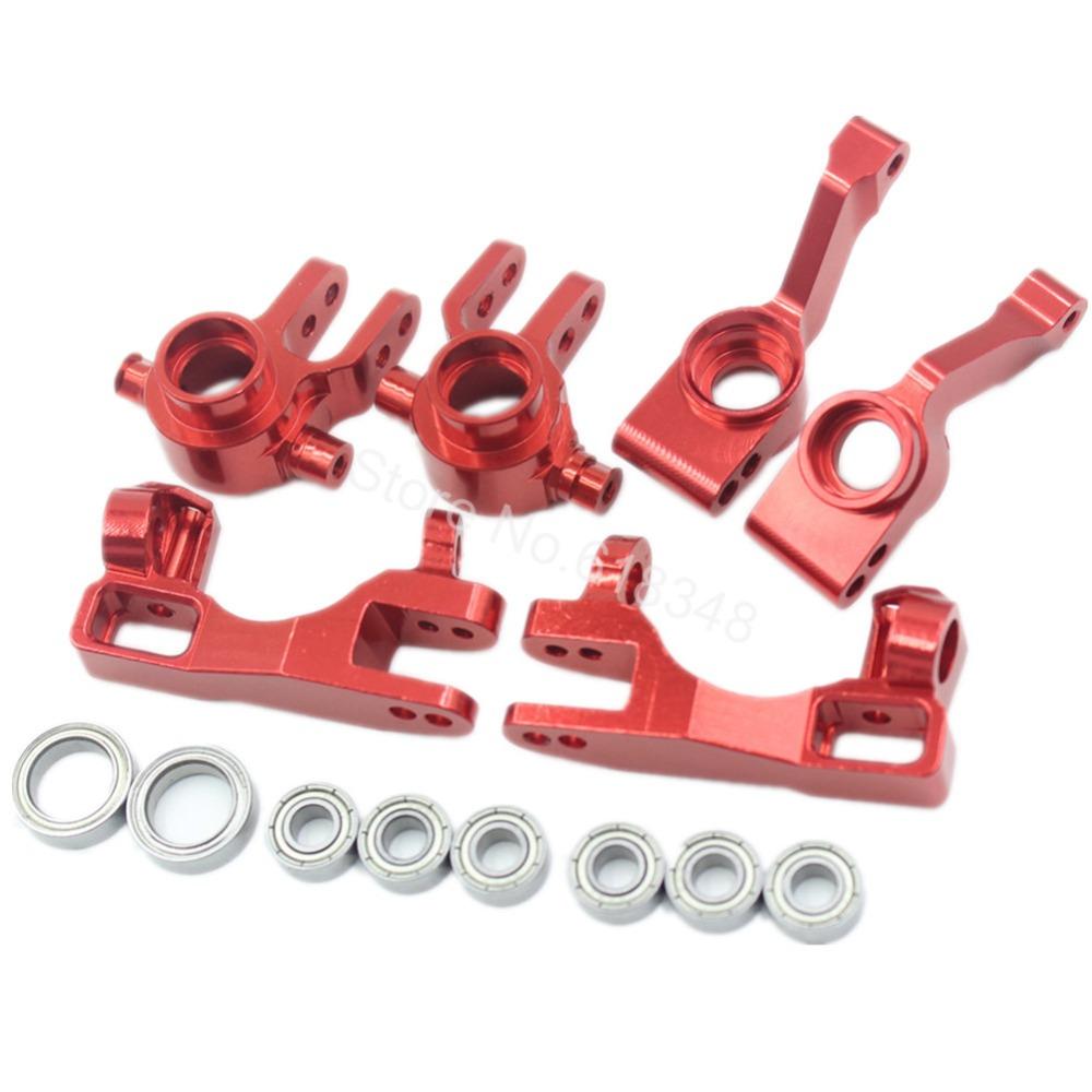 1/10 Traxxas Slash 4x4 Anodized Aluminum Left &amp; Right Steering Blocks (Part # 6837X) C-Hubs 6832X Axle Carriers Caster Blocks<br><br>Aliexpress