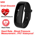 Blood Pressure Heart Rate Monitor M88 Bluetooth Smart Wristband Bracelet Waterproof IP67 0 86 OLED Sport