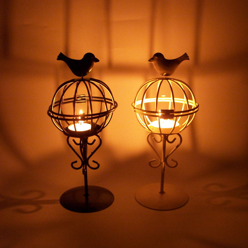 Free shipping Vintage Metal &Glass Candle Holder wedding decoration candle holder creative table(China (Mainland))