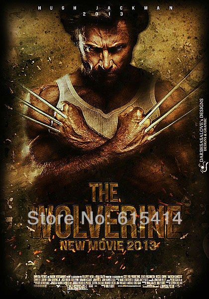 "13 The Wolverine Logan Hugh Jackman 2013 movie 14""x20"" inch wall Poster with Tracking Number"