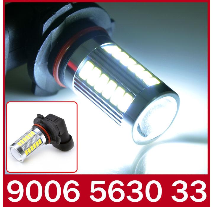 2X USA Stock! Auto Fog Lights 5630 33Smd HB4 9006 Led Xenon White Car Daytime Driving Light Lamp Bulb for BUICK KIA Rio(China (Mainland))