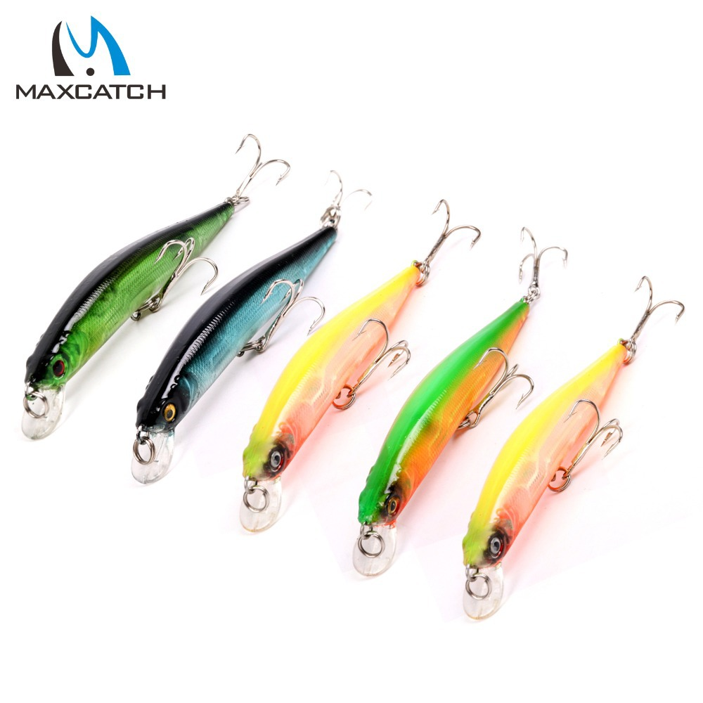 New Arrival Maxcatch 5Pieces Minnow Fishing Lures 100mm 8 37g 1 2m Artificial Bait Hard Fishing