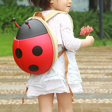 New Fashion Cute Cartoon Backpack Ladybug Beetle Backpack Kindergarten Children School Travel Bags For Boys And Girls(China (Mainland))